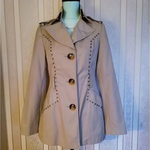 M60 Miss Sixty Western Studded Peacoat Tan Size S